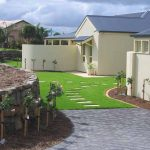 stone retaining wall and instant turf victor harbor
